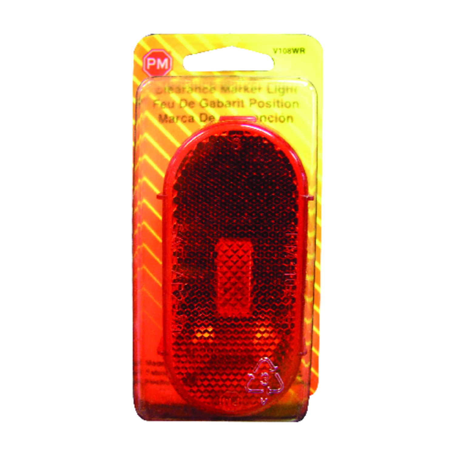 Peterson  Red  Clearance Light  Oval