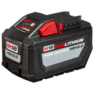 Milwaukee  M18 REDLITHIUM  HD12.0  18 volt 12 Ah Lithium-Ion  Battery Pack  1 pc.