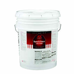 Ace  White  Water-Based  Latex  Barn and Fence Paint  5 gal. Flat