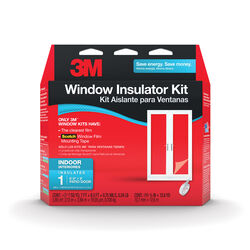 3M Clear Plastic Window Insulation Kit 9 ft. L x 0.75 mil