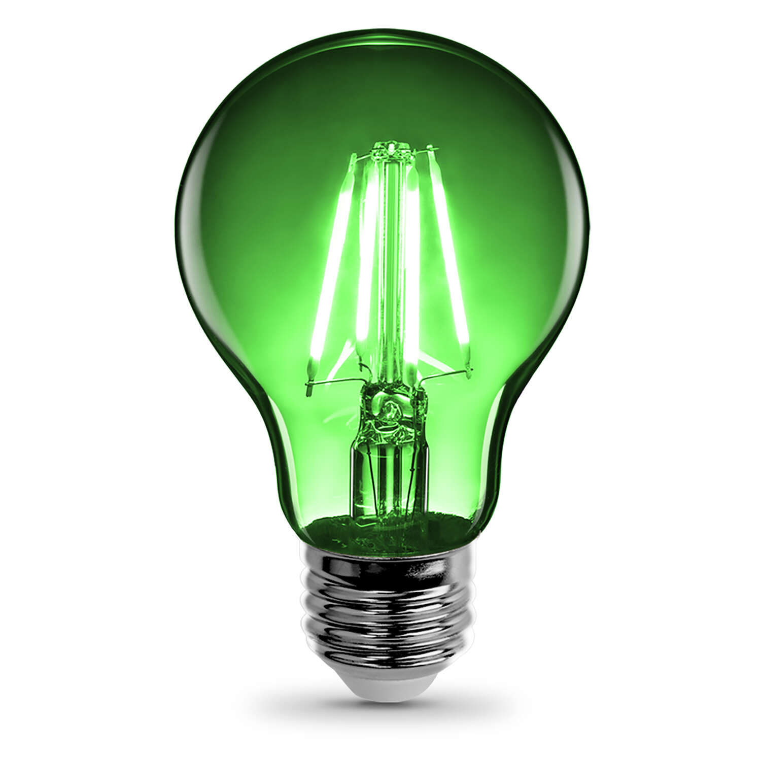 FEIT Electric  Filament  3.6 watts A19  LED Bulb  450 lumens Green  A-Line  30 Watt Equivalence