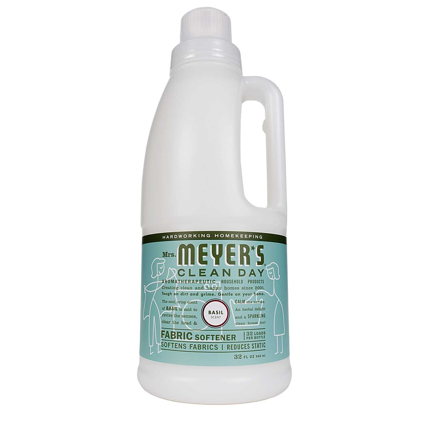 Mrs. Meyer's  Clean Day  Basil Scent Fabric Softener  Liquid  32 oz.