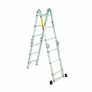 Werner  12 ft. H x 15 in. W Articulating Ladder  Type IA  300 lb. Aluminum