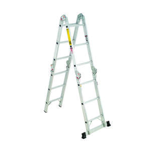 Werner  12 ft. H x 15 in. W Aluminum  Type IA  300 lb. Articulating Ladder