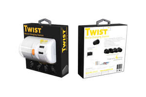 OneAdaptr  Twist World Charging Station  White