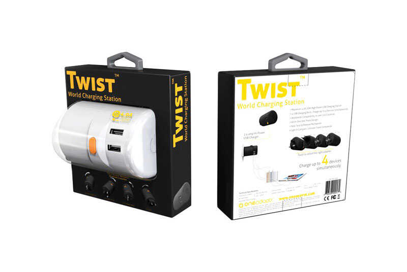 OneAdaptr  White  Twist World Charging Station