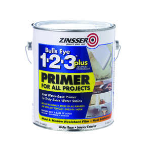 Zinsser  Bulls Eye 123 Plus  Primer  White  1 gal. For All Surfaces