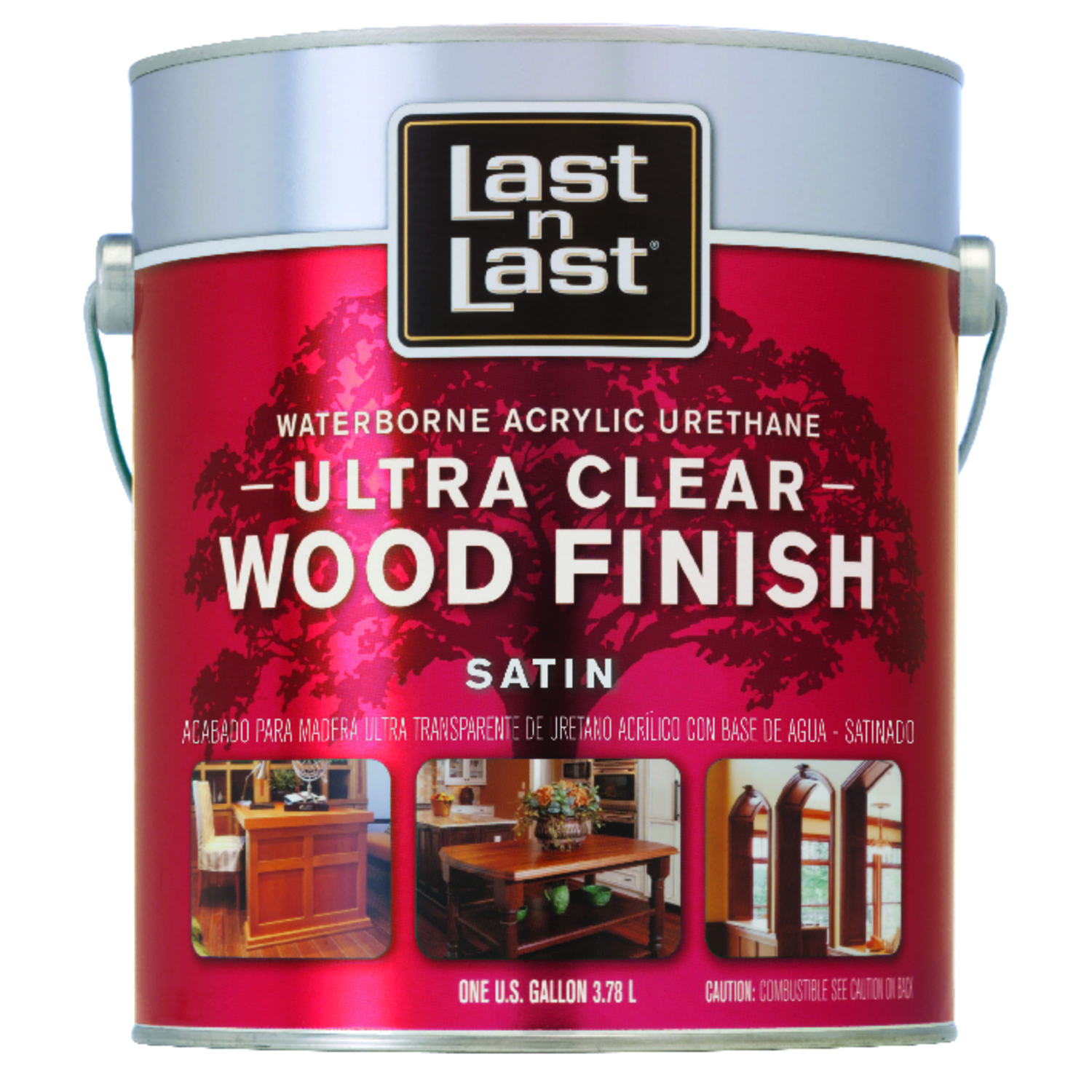 Last N Last Waterborne Wood Finish Acrylic Urethane   Satin   Ultra Clear 1 Gal.  275 VOC g/l