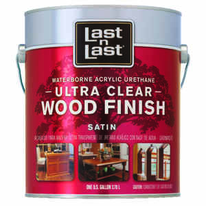 Last N Last  Waterborne Wood Finish  Satin  Clear  Polycrylic  1 gal.