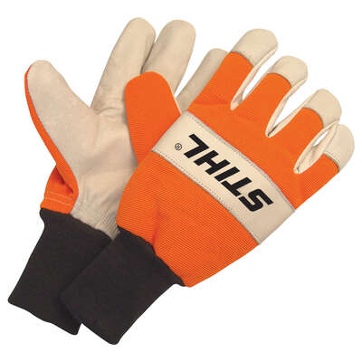 STIHL  Heavy Duty  Goatskin Leather  Work Gloves  M  1 pair Gray/Orange