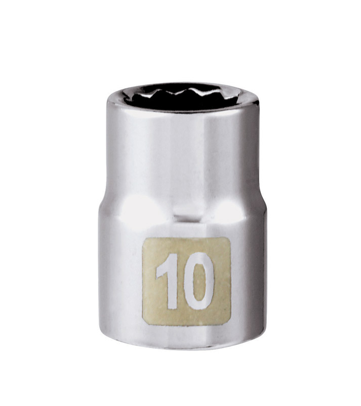 Craftsman  10 mm  x 3/8 in. drive  Metric  12 Point Standard  Socket  1 pc.