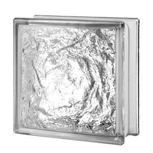 Seves  8 in. H x 8 in. W x 3 in. D Ice  Glass Block