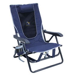 GCI Outdoor 4 position Adjustable Navy Blue Hard Arm Backpack Chair