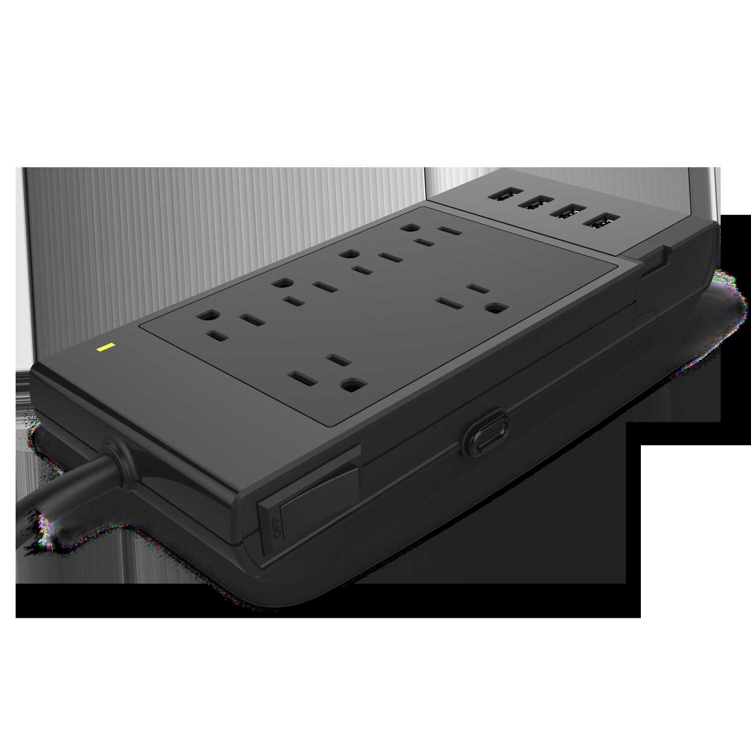 Monster Cable  1080 J 4 ft. L 6 outlets Surge Protector