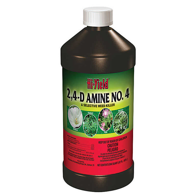 Hi-Yield  2,4-D Amine No. 4  Concentrate  Selective Weed Killer  32 oz.