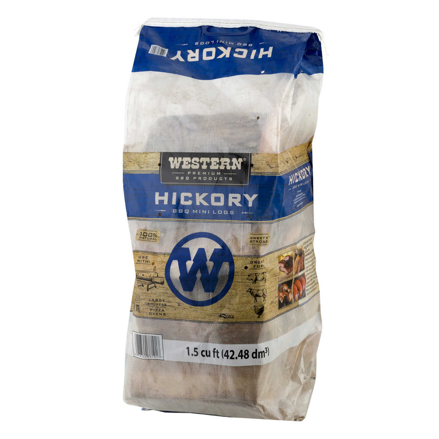 Western Premium BBQ Products  Hickory  Hardwood Pellets  1.5 cu ft cu. in.