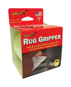 Lok-Lift  2.5 in. W x 15 ft. L Indoor  Scrim  Rug Gripper  Reversible