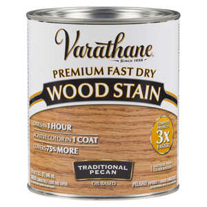 Varathane  Premium Fast Dry  Semi-Transparent  Traditional Pecan  Wood Stain  1 qt.