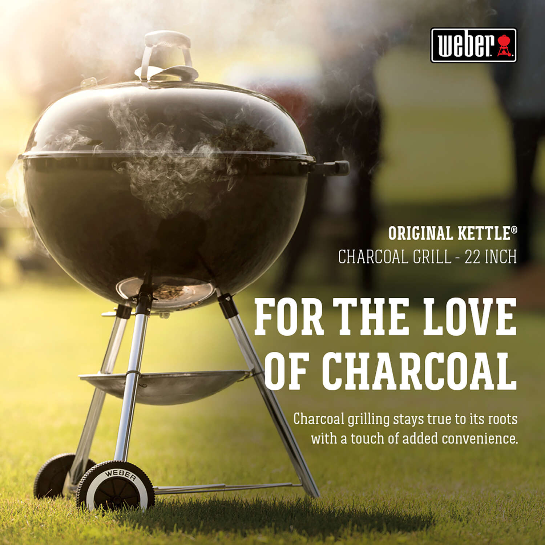 Weber Original 22 in. W Charcoal Black Kettle Grill - Ace Hardware