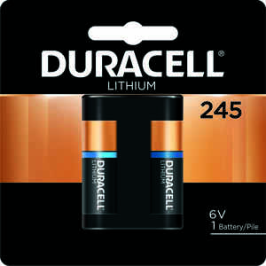 Duracell  Lithium  245  6 volt Camera Battery  DL245BPK  1 pk