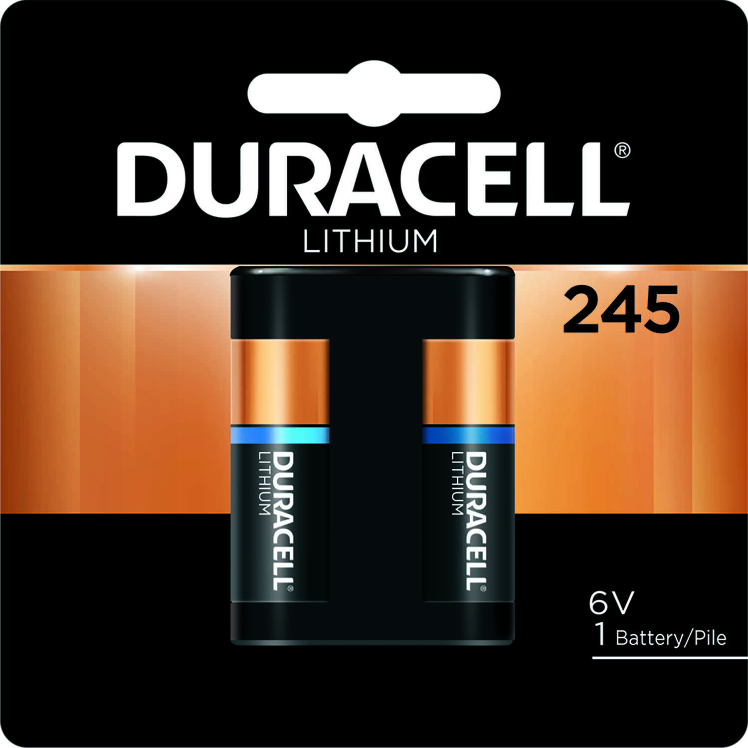 Duracell  245  Lithium  Camera Battery  DL245BPK  1 pk 6 volt