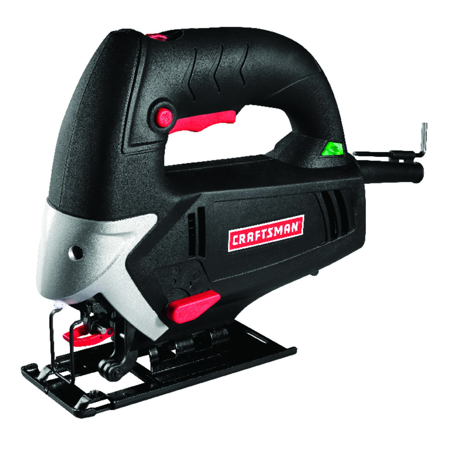 Craftsman  11/16 in. Corded  Keyless 5 amps 3000 spm Jig Saw