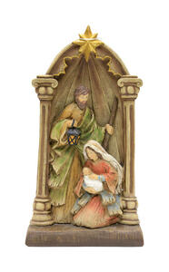 Puleo  Holy Family  Nativity  Multicolored  Resin  1 each