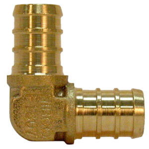 SharkBite  3/8 in. PEX   x 3/8 in. Dia. PEX  Brass  Elbow