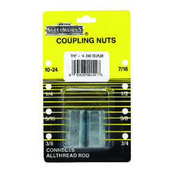 Boltmaster  7/16 inch-14   Steel  Coupling Nut  2 pk