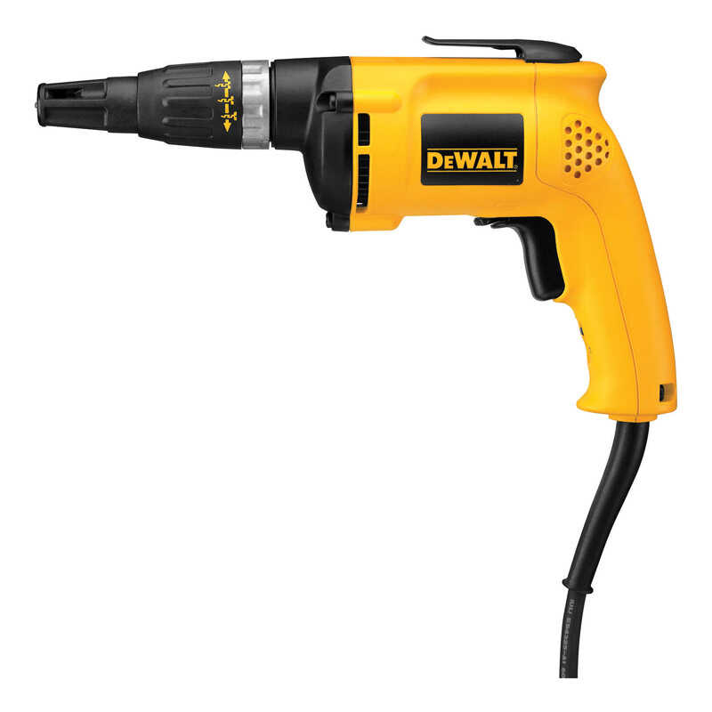 DeWalt  VSR  1/4  Corded  Drywall Screw Gun  6 amps Keyless  5300 rpm 1 pc. 120 volts