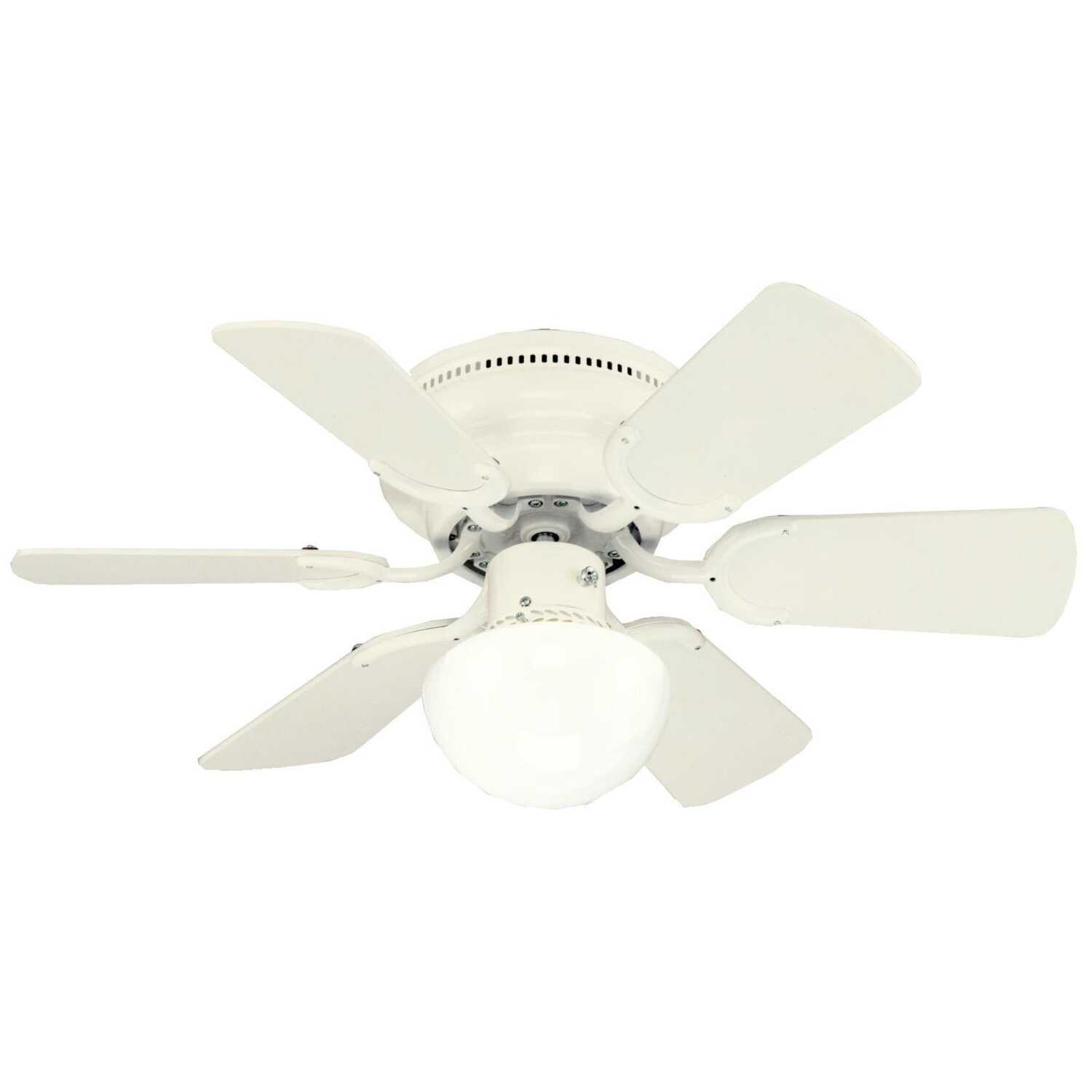 Westinghouse  Petite  30 in. 6 blade Indoor  Antique White  Ceiling Fan