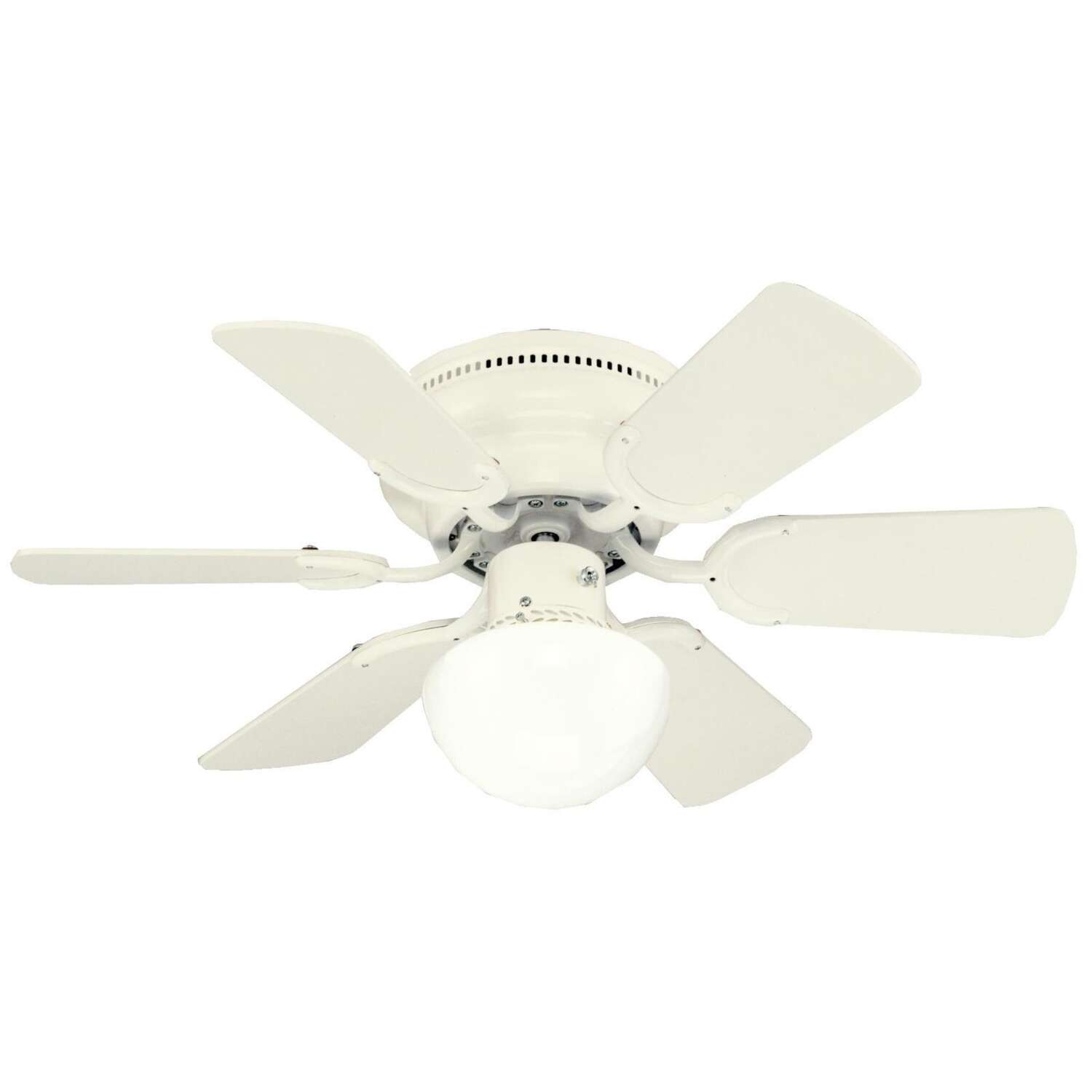 W Indoor 6 Ceiling Fan Antique White
