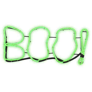 Gemmy  Light Glo  Short Circuit Boo Sign  Lighted Halloween Lights  9-7/16 in. H x 13-9/16 in. W 1 p
