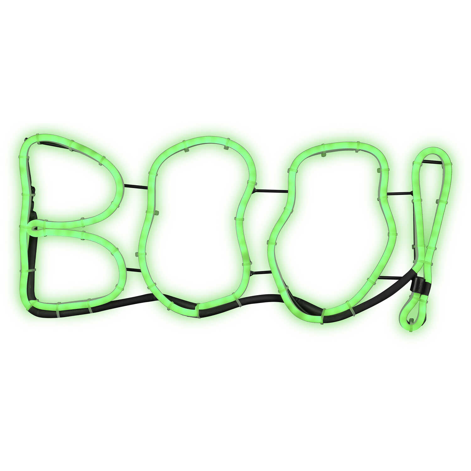Gemmy  Light Glo  Short Circuit Boo Sign  Halloween Decoration  9-7/16 in. H x 13-9/16 in. W x 17-3/