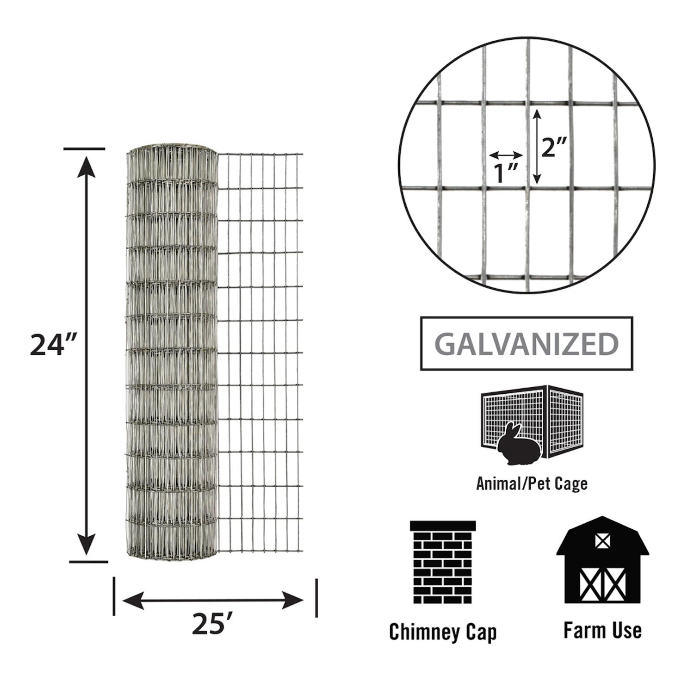 garden zone 24 in  w steel wire cage