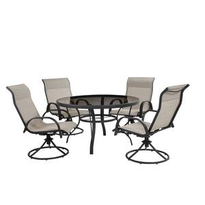 Living Accents  Kensington  Round  Black  Glass  Dining Table