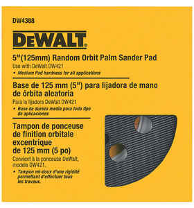 DeWalt  5 in. Resin Fiber  Hook and Loop  Sander Replacement Pad  1 pk