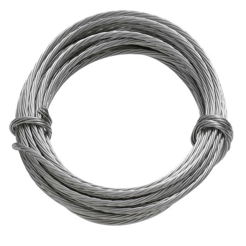 HILLMAN  OOK  9 ft. L Stainless Steel  Wire