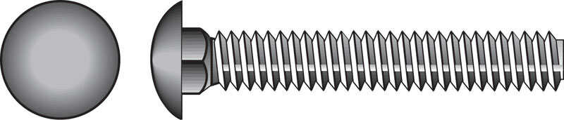 HILLMAN  5/16  Dia. x 1 in. L Zinc-Plated  Steel  Carriage Bolt  100 pk