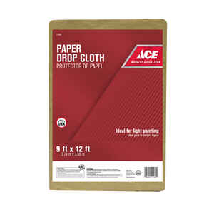 ACE  9 ft. W x 12 ft. L Paper  Drop Cloth  1 pk