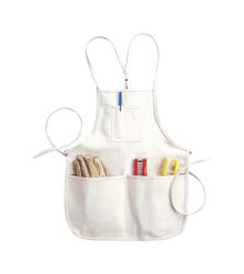 CLC  Heavy Duty 4 pocket Canvas/Cotton  Bib Apron  White  1 pk