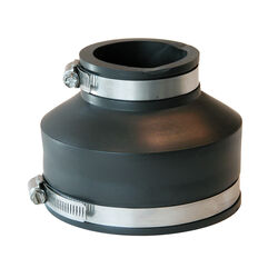 Fernco Schedule 40 4 in. Hub x 2 in. Dia. Hub PVC Flexible Coupling