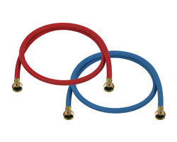 Ultra Dynamic Products  3/8 in. FGH   x 3/4 in. Dia. FGT  8 ft. Rubber  Washing Machine Supply Line