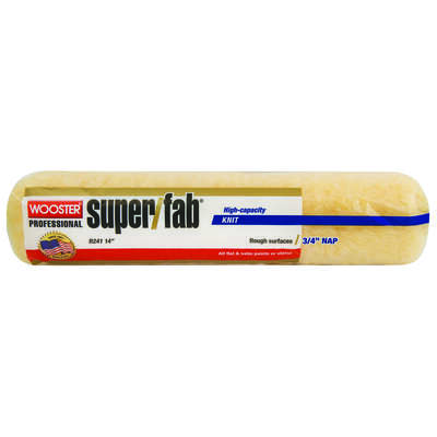 Wooster Super/Fab Knit 14 in. W x 3/4 in. Regular Paint Roller Cover 1 pk
