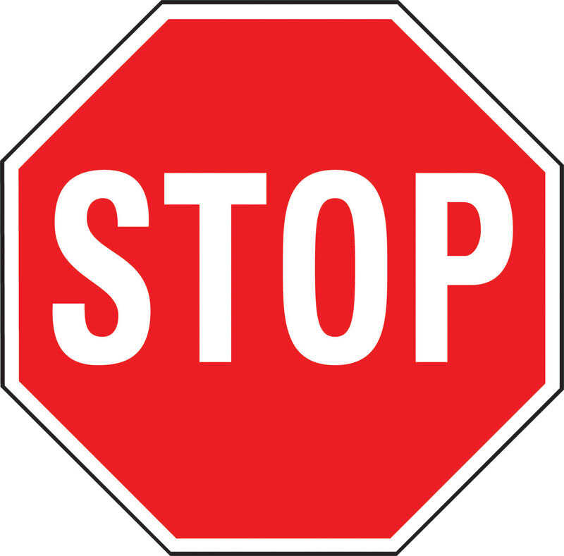 Hy-Ko  English  18 in. W x 18 in. H Stop  Aluminum  Sign
