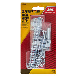 Ace  Zinc-Plated  Silver  Steel  Screen/Storm Door Chain Stop  1 pk