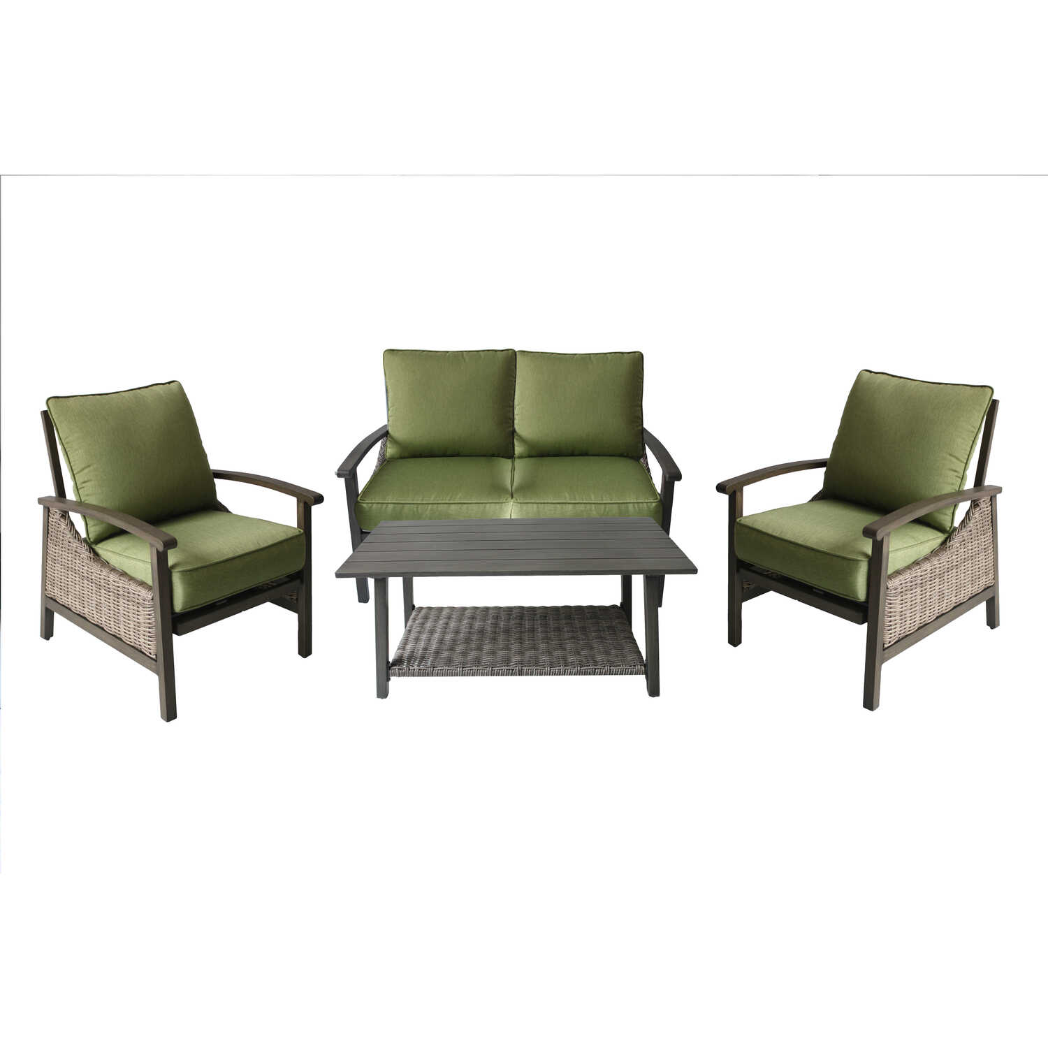 Living Accents  Soho Deep Seating  4 pc. Aluminum  Patio Set  Green