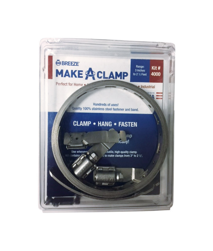Breeze  Make a Clamp  Stainless Steel Band  Clamp System Kit
