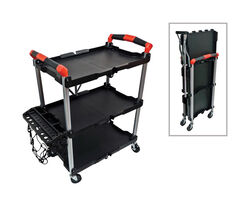 Steel Grip 26-1/4 in. L x 15 in. W x 34 in. H Rolling Collapsible Service Cart