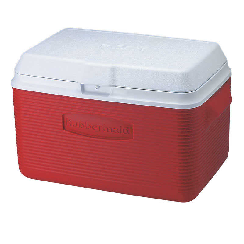 Rubbermaid  Victory  Cooler  34 qt. Red